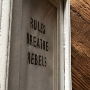 Honorable Citizens Wall Art - Rules Breathe Rebels 8x10 matted art framed